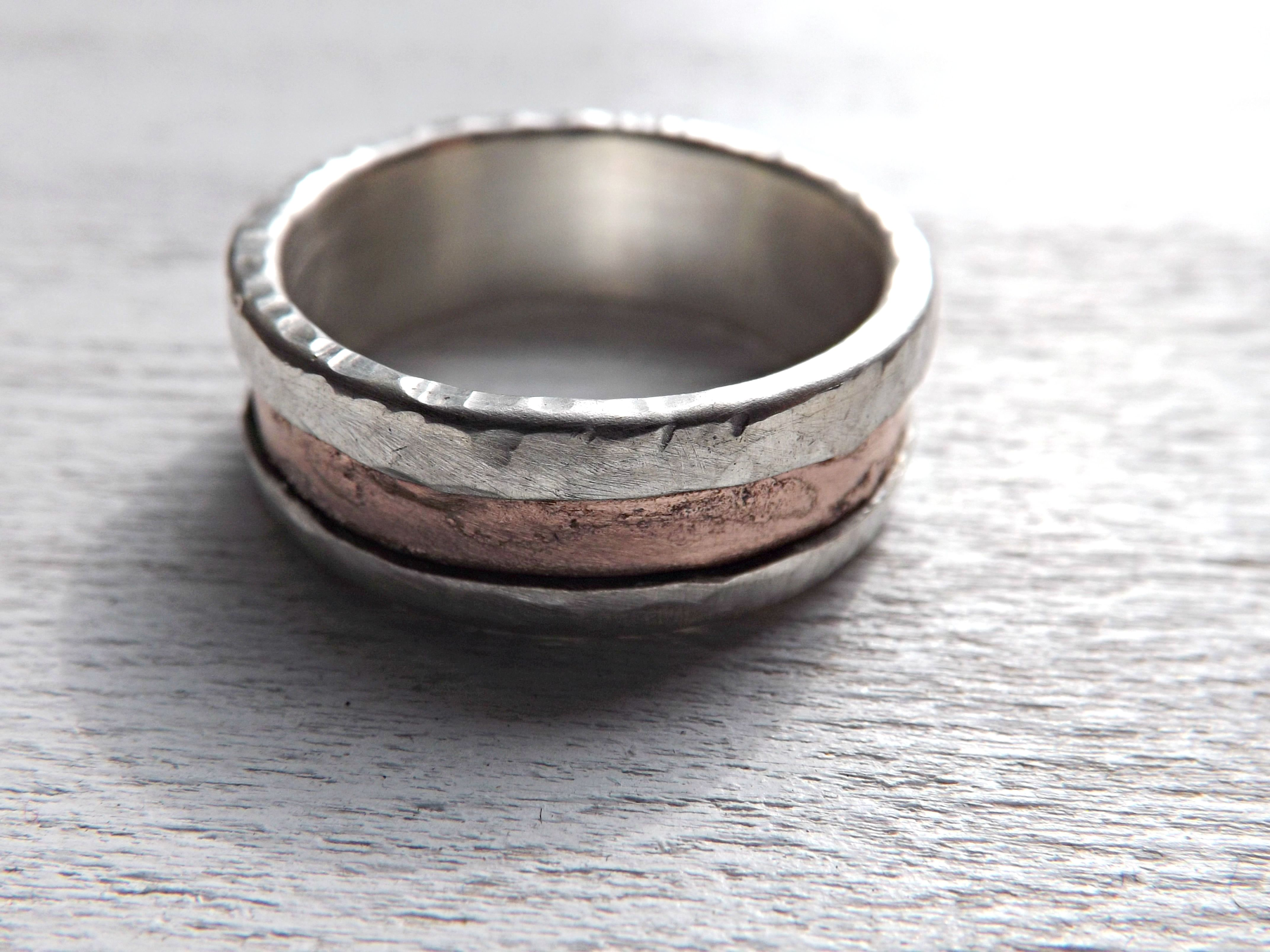 Custom Made Rustic Mens Ring Wedding Band Engagement Personalized