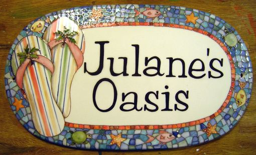 Custom Made Hand-Painted Address Tiles And Plaques