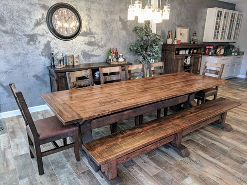 Custom Made Reclaimed Maple Dining Table