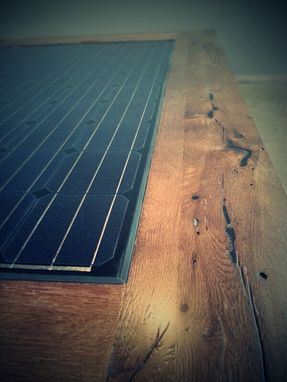 Custom Made Solar Panel Oak Conference Table