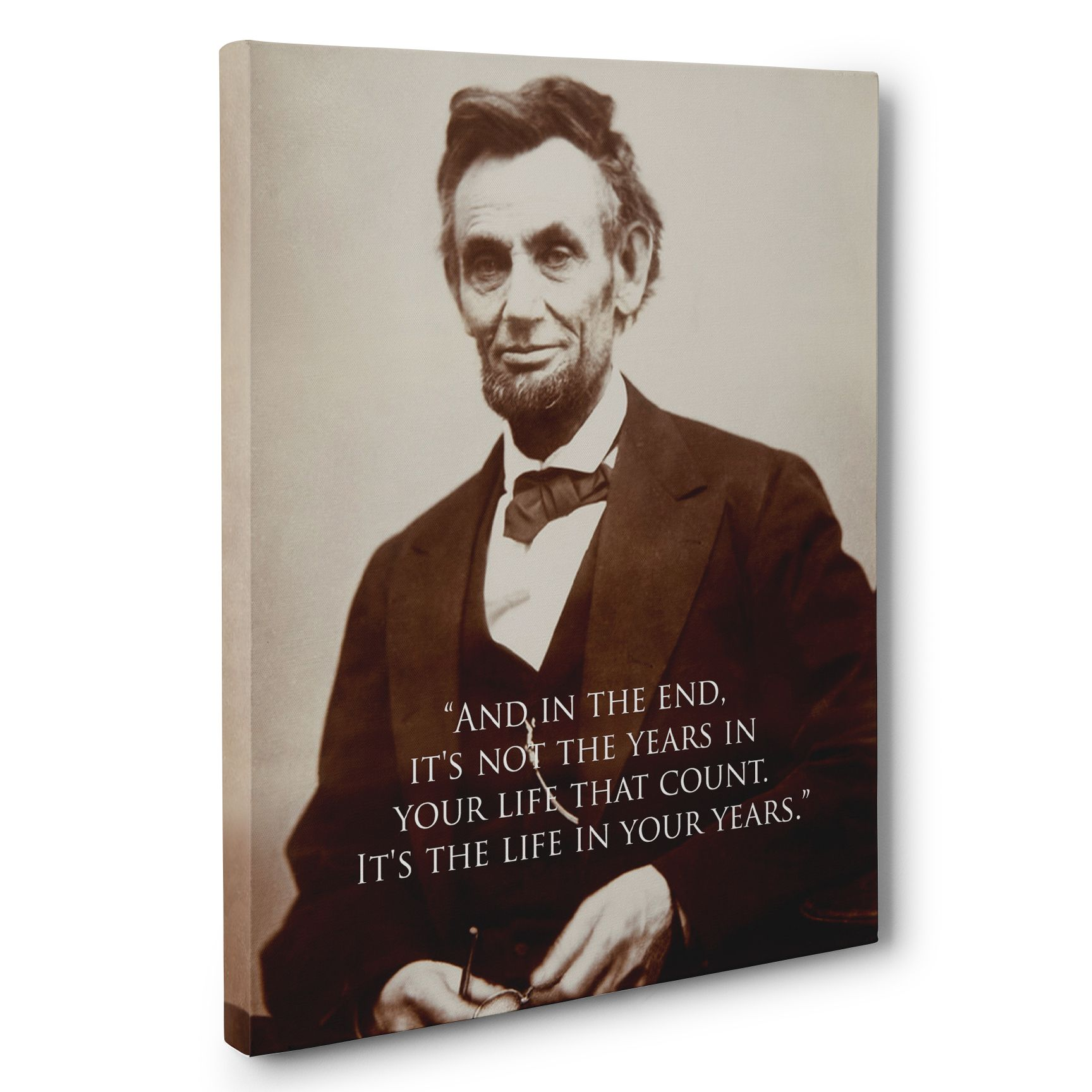 Buy A Handmade Abraham Lincoln Life Motivation Quote Canvas