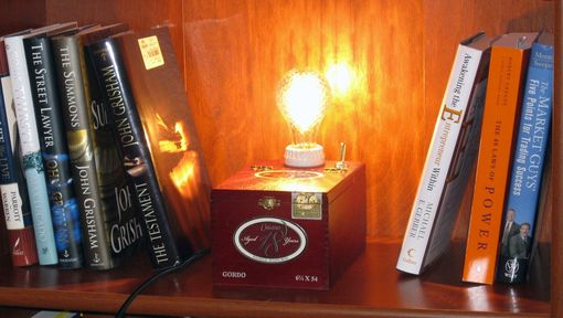 Custom Made Cigar Box Desk Lamp Cusano 18