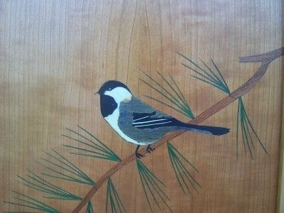 Custom Made Maine Chickadee Cabinet