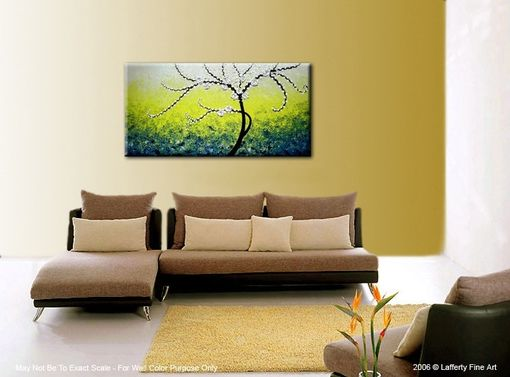 Custom Made Original Xlarge 4ft X 2ft Gallery Wrap Canvas Contemporary Impasto Tree Painting Modern Abstract