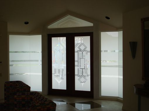 Custom Made Etched Laminated Safety Glass Double Glazed For Ease Of Maintenance And Added Privacy
