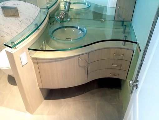 Custom Made Curved Vanity Bamboo
