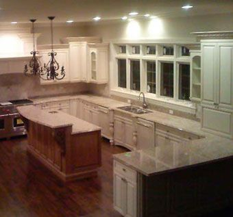Custom Made Custom Traditional Kitchen In Linen White With A Mocha Glaze