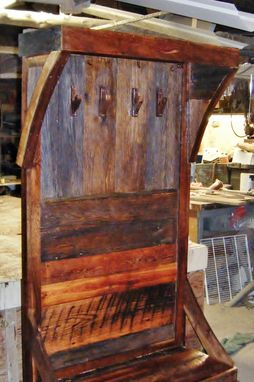 Handmade Barn Wood Hall Tree By Barn Wood Furniture