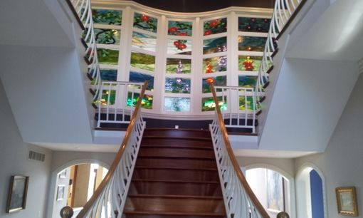 Custom Made Stained Glass Wall - Inspired By A Louis Comfort Tiffany Design (P-36)