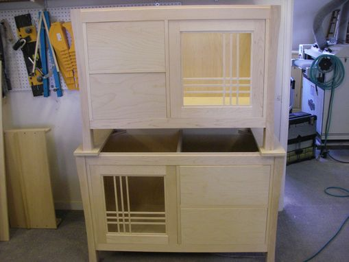 Custom Made Free Standing Maple Bathroom Vanity