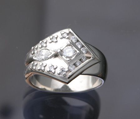 Custom Made 14kt White Gold Custom Designed Ring With 2.89ct Tw Diamonds