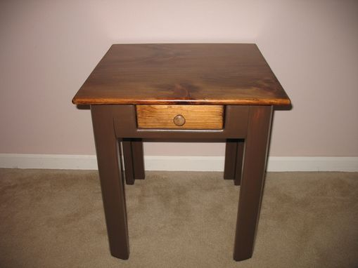 Custom Made Grizzly Bear Side Table