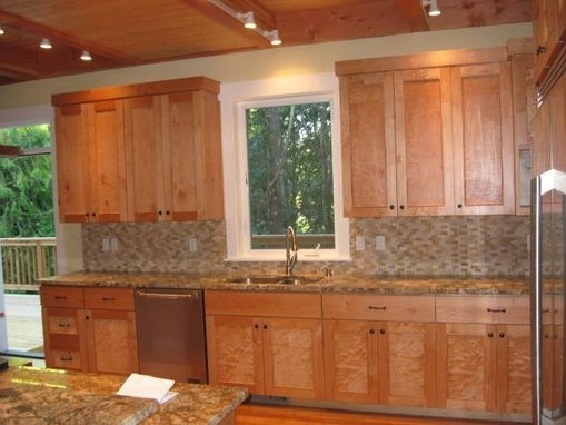 Custom Made Figured Maple  Custom Cabinets.
