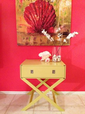 Custom Made Vintage Suitcase End Table