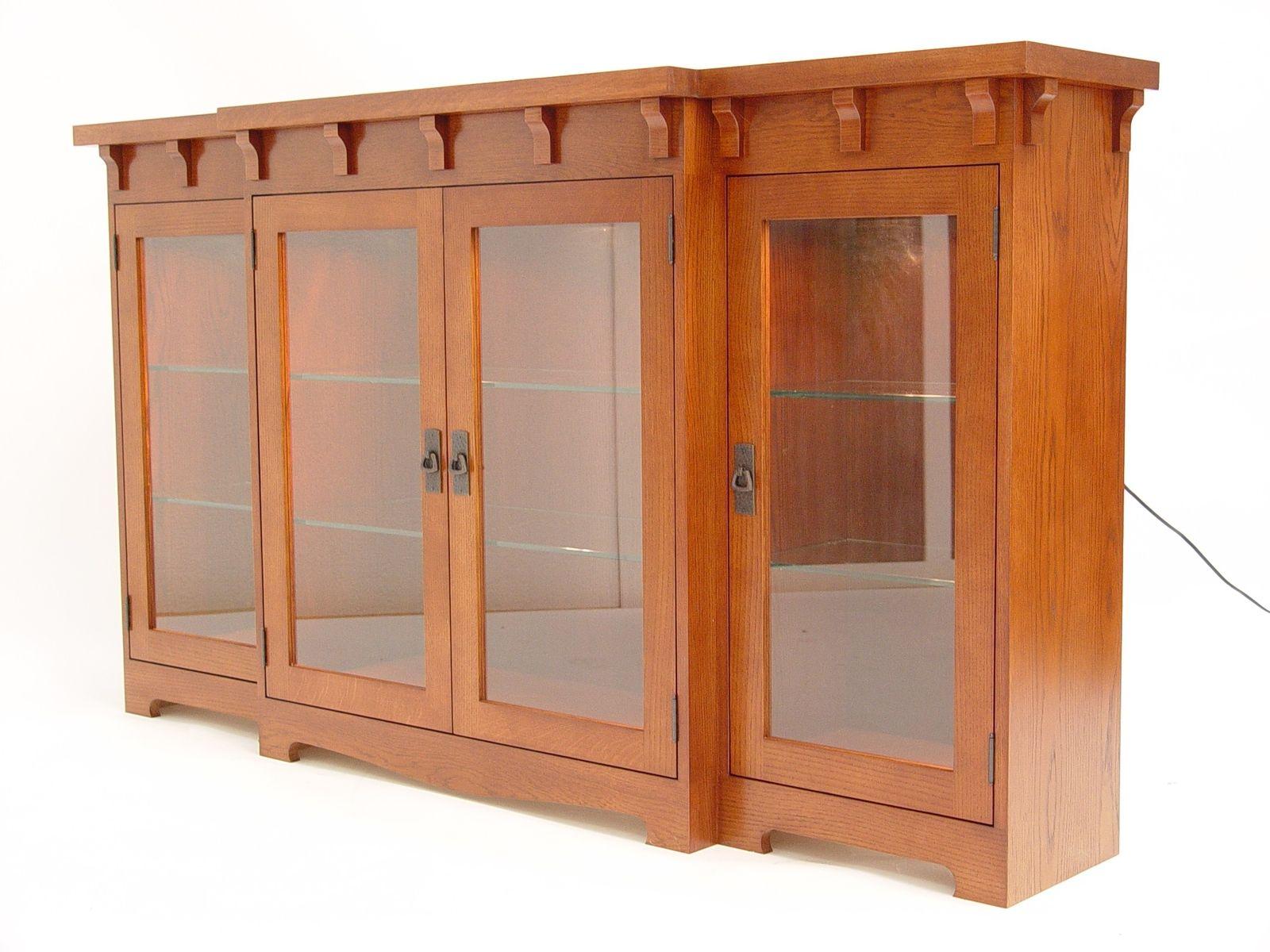 Custom Made Oak Arts Crafts Cabinet By Mckenzie Cabinetry