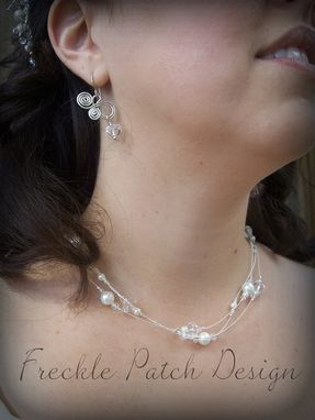 Custom Made Sterling Silver Bridal Necklace With Swarovski Accents