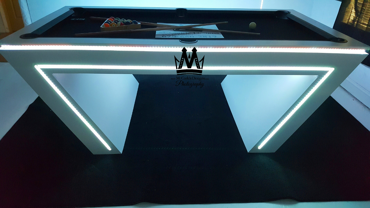 Cool Pool Tables >> Buy Custom Made Virtual Reality Vr Pool Table Glow In The Dark Pool