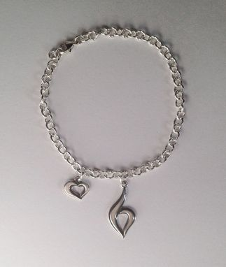 Custom Made Heart Yourself! Eating Disorder Recovery Charm Bracelet