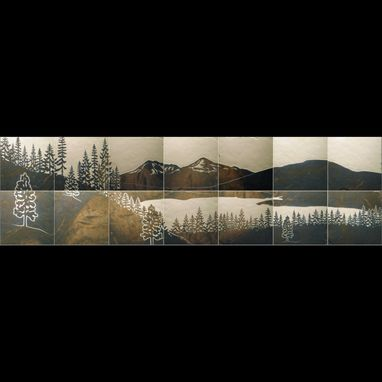 Custom Made Lake Dillon Porcelain Tile Mural