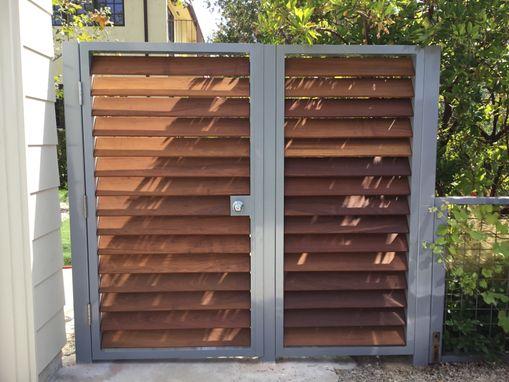 modern metal gate. Aluminum + Ipe Modern Metal Gate Modern Metal Gate L