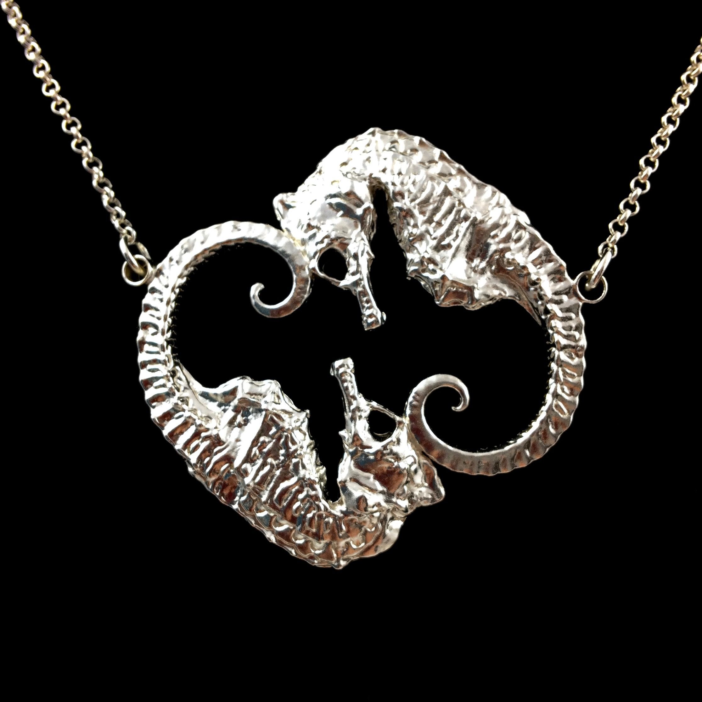 origins seagems coastal fashion sterling silver jewellery pure necklace shop seahorse shore pendant
