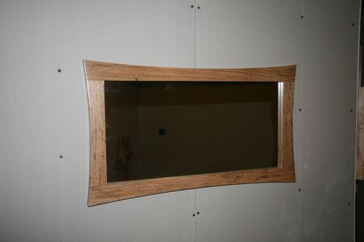 Custom Made Oak Curved Mirror