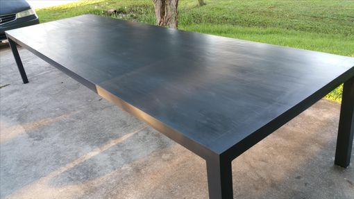 Custom Made Solid Ash Parsons Table Painted Grey