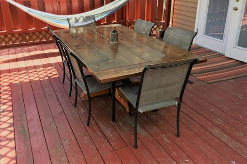 Custom Made Rustic Farm House Indoor Outdoor Dining Table