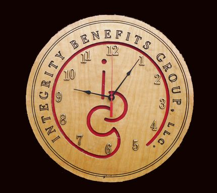 Custom Made Custom Wall Clock Logo Trademark    Free Shipping