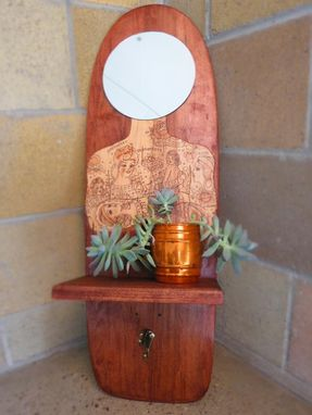 Custom Made Recycled Skateboard Vanity