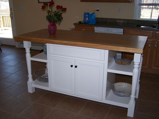 Custom Made Painted Kitchen Island