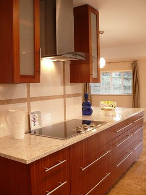 Custom Made Modern Mahogany Kitchen Cabinets