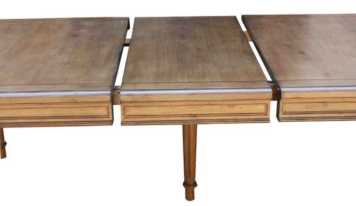 Custom Made Classic Colonial Fluted Leg Extension Table