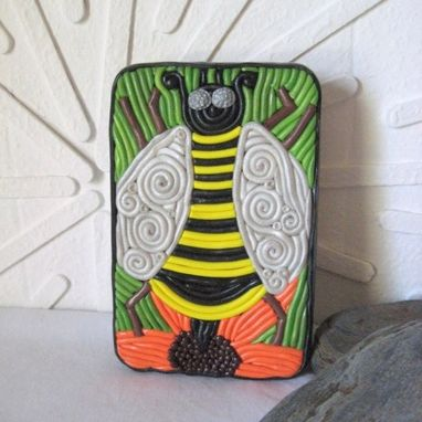Custom Made Honey Bee Decorative Storage Tin, Cigarette Case Or Wallet