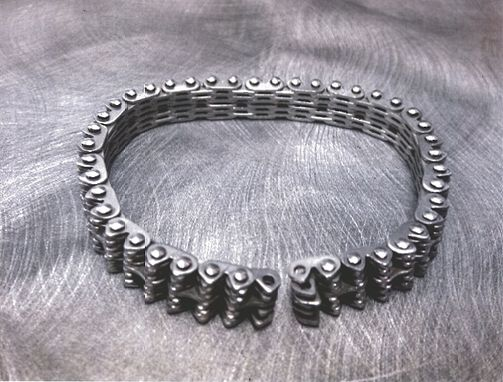Custom Made Huey Helicopter Chain Made Into A Rare Bracelet