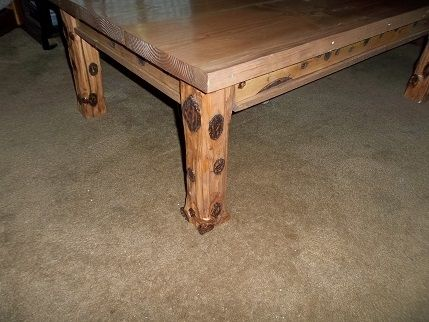 "Custom Made Handmade 48""X 30"" Rustic Coffee Table"