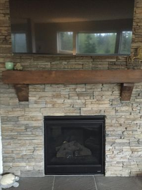Custom Made Beautiful Custom Distressed Mantel