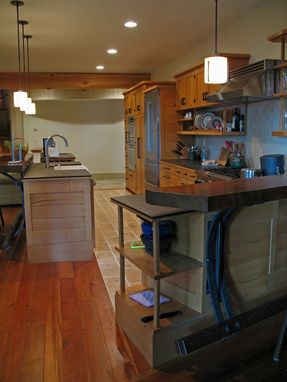 Custom Made White Oak Kitchen In The Adirondacks
