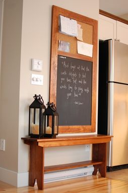 Custom Made Harvest Pine Bench And Chalk Board