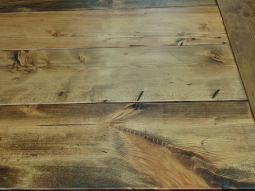 Custom Made Reclaimed Wood Trestle-X Style Farmhouse Table
