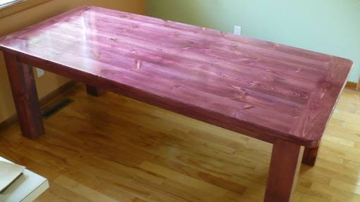 Custom Made Stained  Pine Table