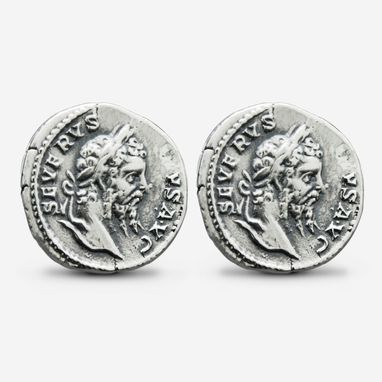 Custom Made Sterling Silver Septimius Severus Cufflinks