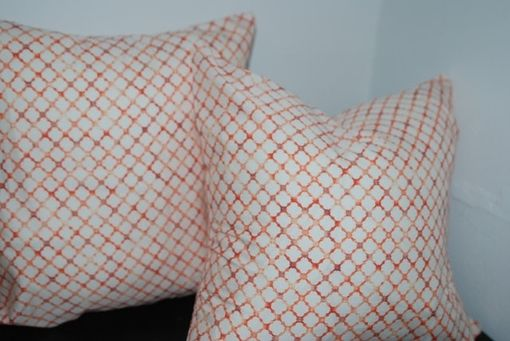 Custom Made Red And White Lattic Decorative Pillow Cover - Geometric Bedding Pillow Cover