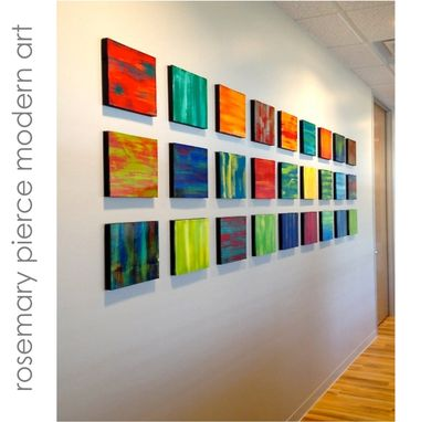 Custom Made Poetic Blocks - Custom Abstract Painted Wood Wall Sculpture