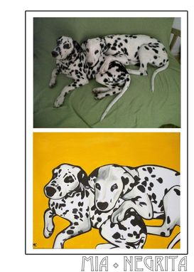 Custom Made Mia And Negrita- Pawblo Picasso Pet Portraits