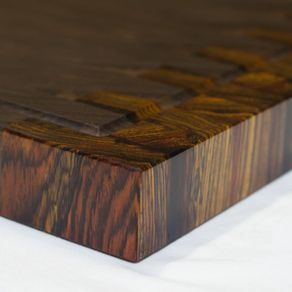 Walnut And Cocobolo End Grain Cutting Board Handmade Reversible By Mark Ekis