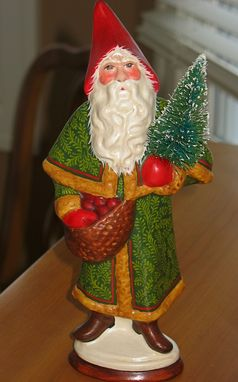 Custom Made German Belsnickle Santa Handcrafted From An Antique Chocolate Mold