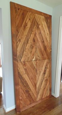 Hand Made Solid Reclaimed Wood Barn Doors Diamond Mosaic