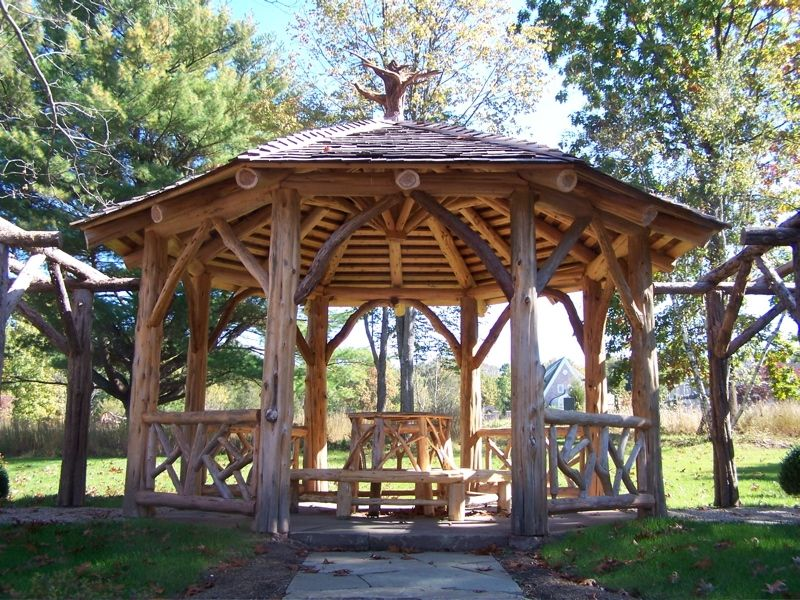 New Milford Timber Frame as well Granite   Stone additionally Naturaledgewoodworking together with Garden Fencing in addition 20 Five Star Arbors Pergolas Gazebos Full Wrap Roof. on timber fire pit