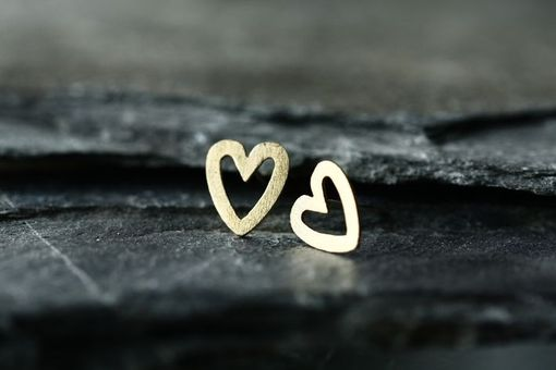 Custom Made L'Amour - Gold Heart Stud